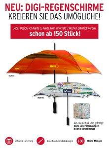 Werbeartikel Regenschirm alloverdruck