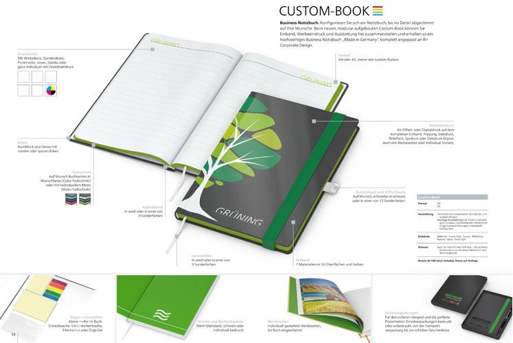 Hochwertige Notizbücher nach dem Baukastensystem