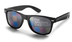 Individueller Werbedruck auf Brillenglas