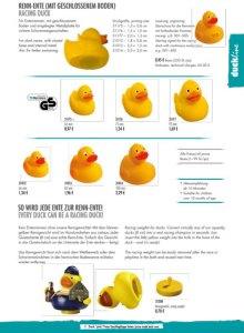 Werbeartikel Renn-Enten mit Nummerierung
