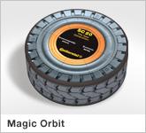 Haptische Werbehilfe Faltwerk Magnetic Magic Orbit