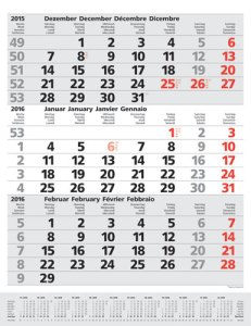 JoSa Werbeartikel 3-Monatsplaner Komfort