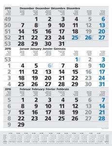 JoSA Werbeartikel 3-Monatsplaner Komfort blau