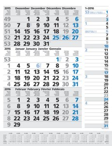 JoSA Werbeartikel 3-Monatsplaner Kombi blau