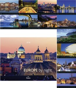Werbeartikel Bildwandkalender Europe by night