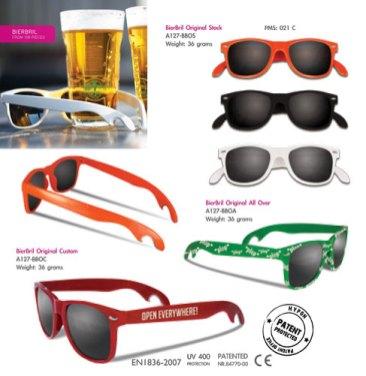 Werbeartikel Sonnenbrille mit Kapselheber
