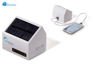 Werbegeschenke Powerbank Solar Haus