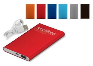 Werbeartikel Powerbank Slim 4000 mAh