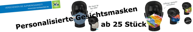 Gesichtsmasken mit Logo bedrucken