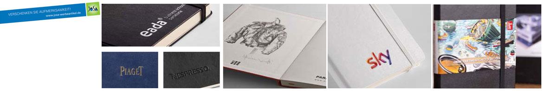 Moleskine Notizbücher Veredelungsoptionen