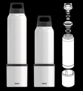 Werbegschenk SIGG Trinkflasche mit Trinkbecher