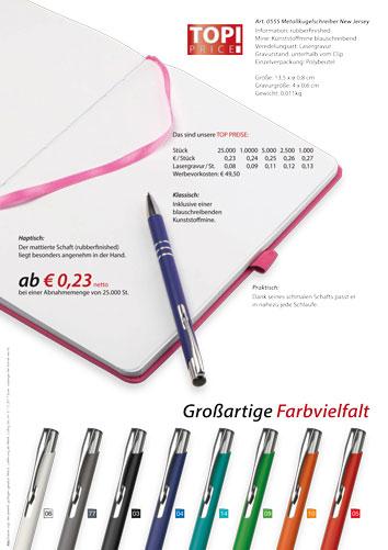 Werbeartikel Kugelschreiber mit rubberfinished