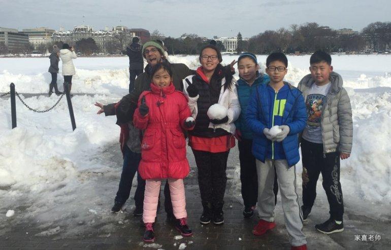 Snow Battle in Washington DC