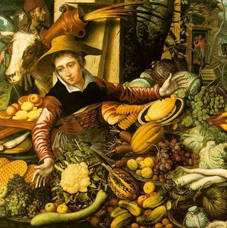 Market+Woman+with+Vegetable+Stall,+1567