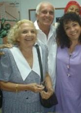 Maria Eugenia Garcia Gonce y su madre Selene Gonce, ambas actrices del Grupo Teatrova de Cuba, 2007