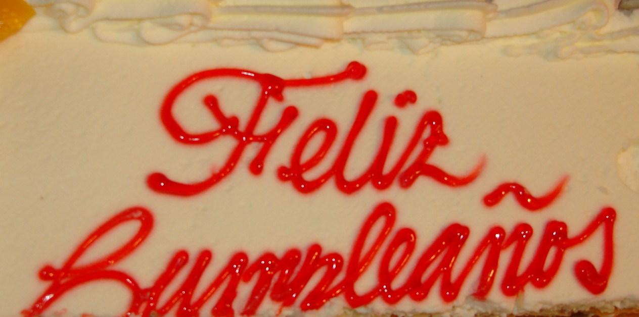 La torta o cake del cumpleaños de Jorge Cancio.