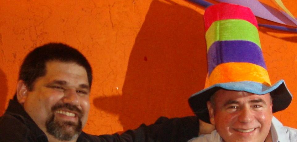 Jorge Cancio y Josan Caballero, celebrando el cumpleaños 55 del primero.