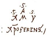 Anagrama de Salvador Fernandez Zarco, el verdadero nombre de Cristobal Colon