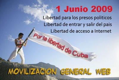 MOVILIZACIÓN WEB POR LAS TRES LIBERTADES FUNDAMENTALES DE LOS CUBANOS.