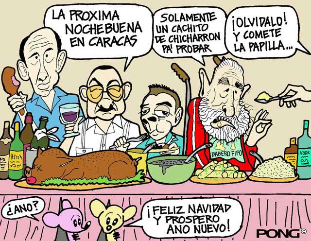 La cena de los presidentes y sus secuaces.