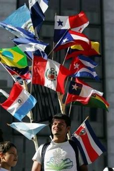 La Rueda de las Banderas de los Inmigrantes.