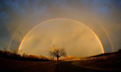 Un arcoiris mundial para los niños y las niñas...