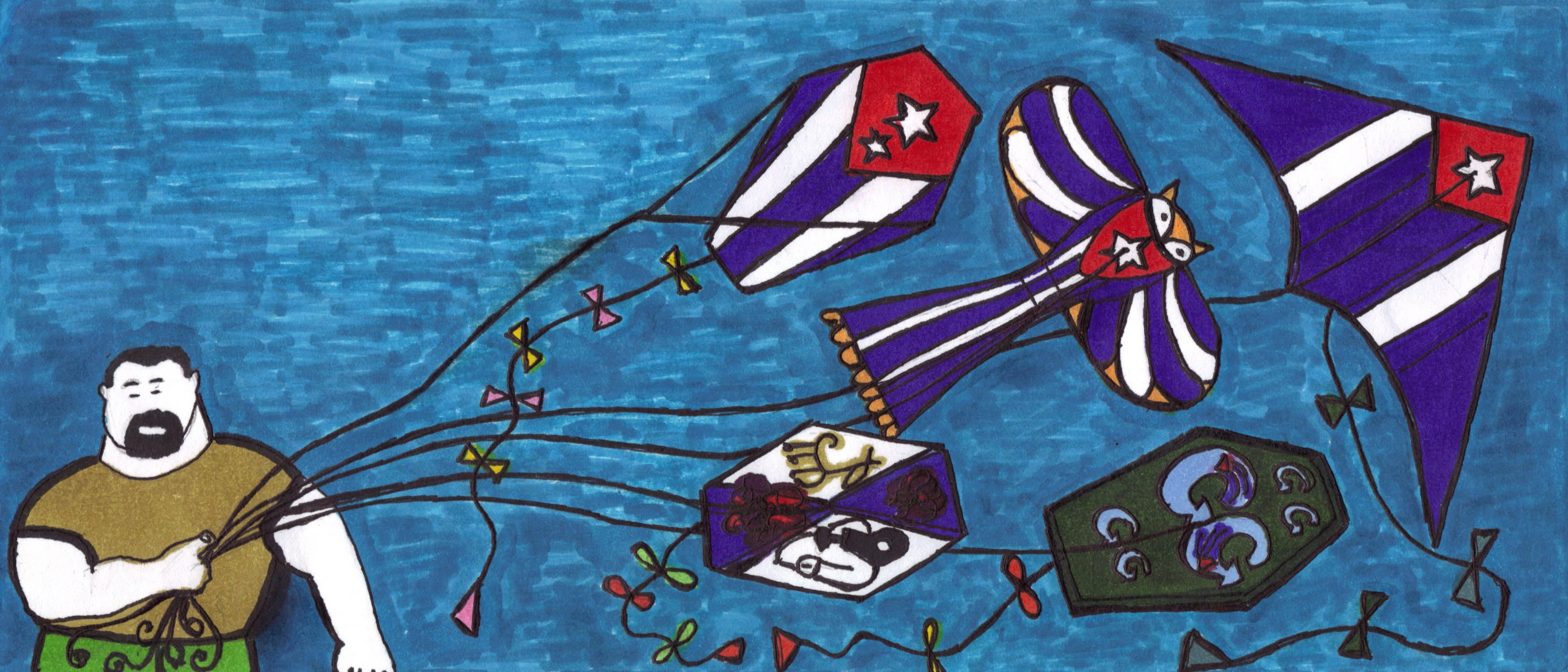 Cabecera del Blog Papalotes con Banderas de Josán Caballero.
