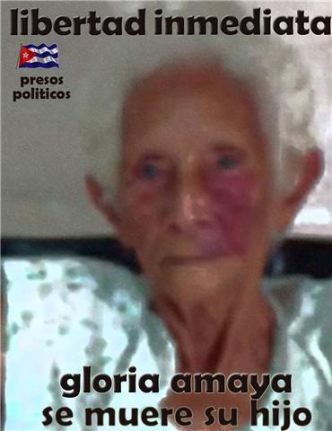 Gloria Amaya, la Madre de Ariel Sigler Amaya, y fundadora de Las Damas de Blanco...