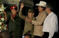 Los presidentes Hugo Chávez, Raúl Castro, Manuel Zelaya y Fernando Lugo