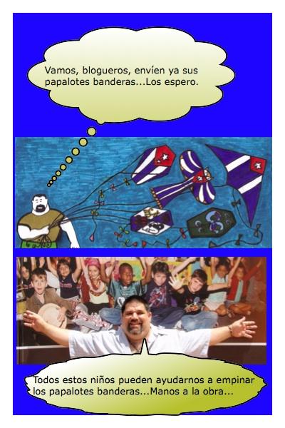 Que vengas todos los Papalotes con Banderas a volar en mis Blogs, dice Josán Caballero...