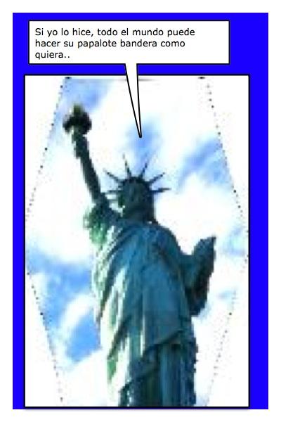 El Liberlote o el Papaliber, nuestro Papalote Bandera de la Libertad...