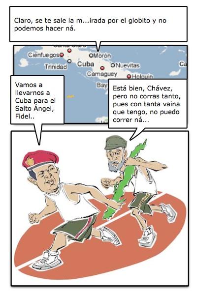 Fidel Castro y Hugo Chávez, los artífices del más cruento despotismo, racionalista e intolerante...