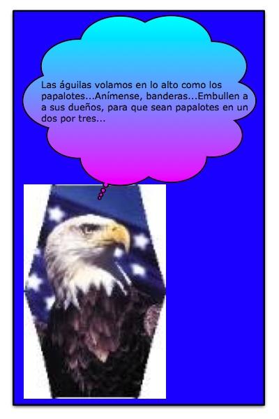 Un Papáguila en la Campaña de los Papalotes Banderas, de Josán Caballero.