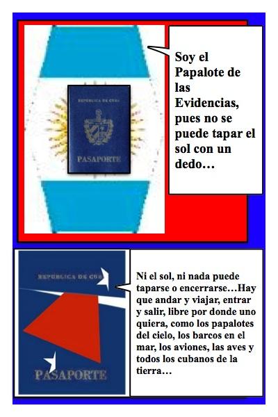 El nuevo Papalote Bandera de Evidencias, el Blog de Verónica Cervera, creado por Piero y Josán, con historieta de Josán Caballero.