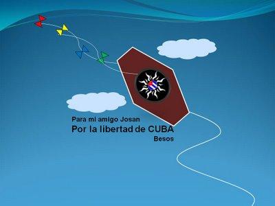 Papalotes por la libertad de Cuba, de Inés de Cuevas, para la Campaña de Josán Caballero.