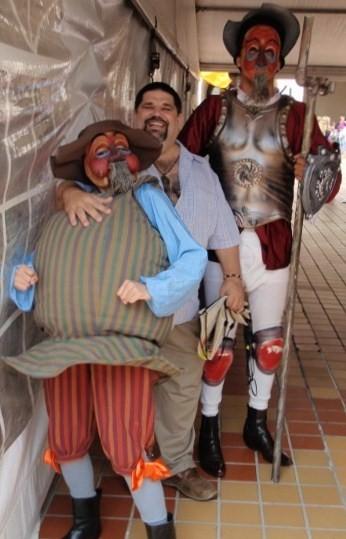 El Caballero de la Alegre Figura, con su Trotamar Menor y su Escudero...
