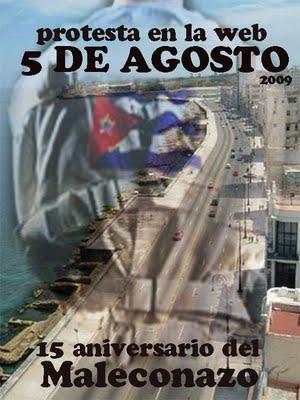 Protesta en el Malecón, de nuevo este 5 de agosto, por Chiquita Cubana.