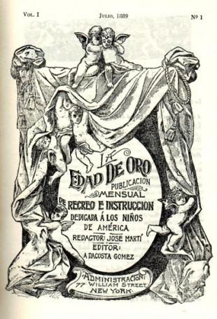 Portada de la Revista LA EDAD DE ORO, de José Martí