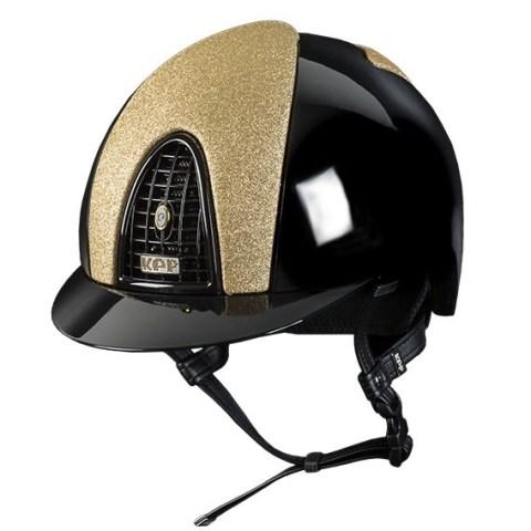 KEP Cromo Polish black Star Gold Reithelm
