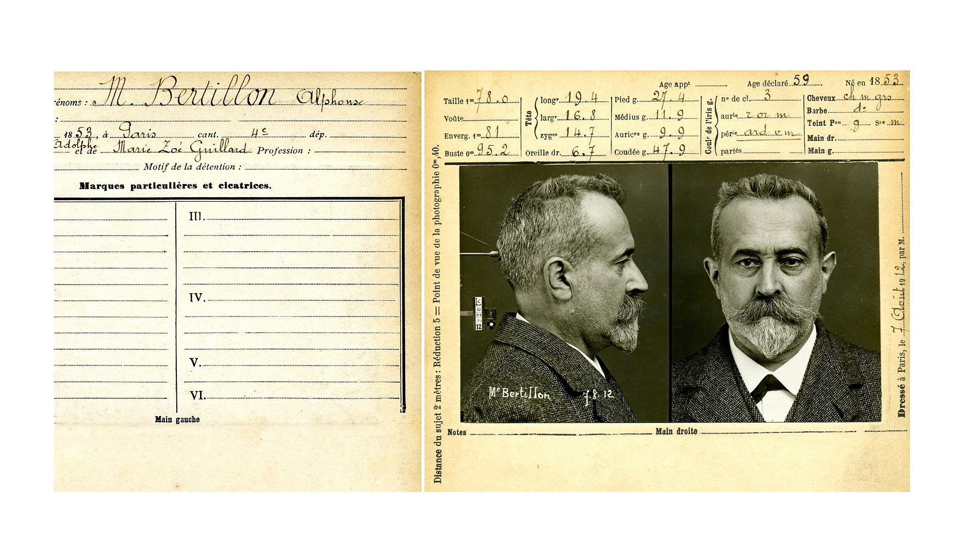 Alphonse Bertillon - Fotografía policíaca - Historia de la Fotografía - José Álvarez Fotografía