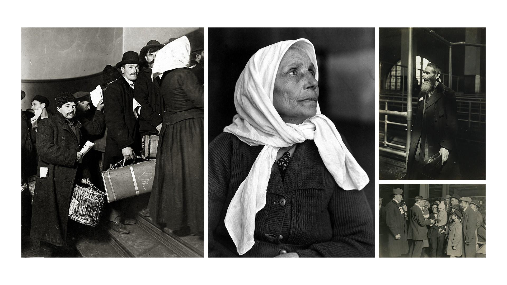 Lewis W Hines - Inmigrantes de la Isla de Ellis - Historia de la Fotografía - José Álvarez Fotografía