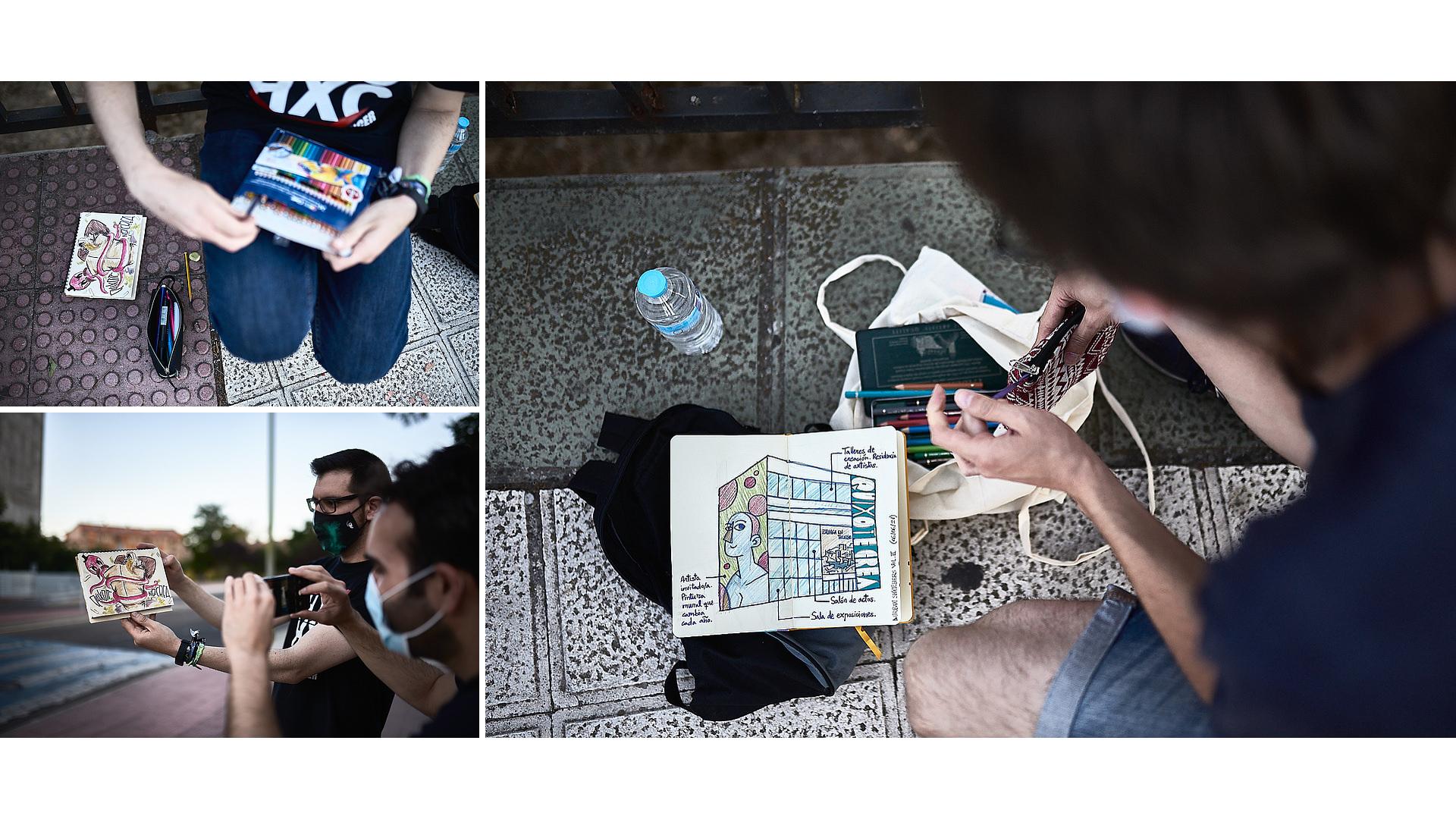 Urban Sketchers - Apolo Toledo - José Álvarez Fotografía