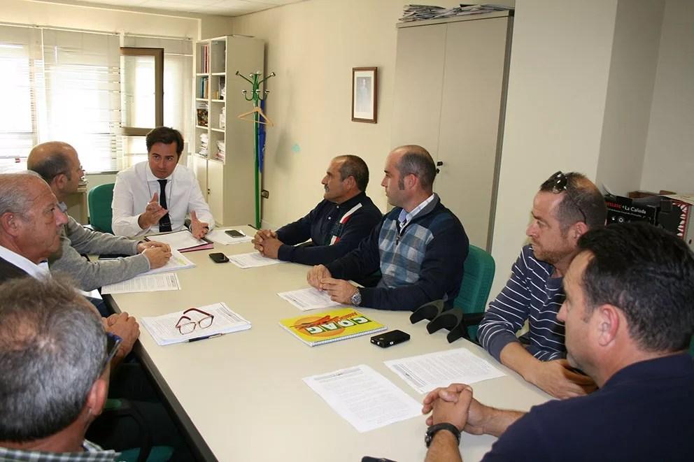 Reunión de agricultores de Coag Almería con el alcalde de El Ejido, Francisco Góngora