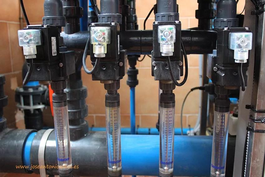 Inyectores de agua de riego