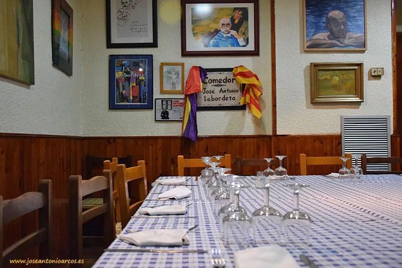 Sala José Antonio Labordeta en Casa Emilio.