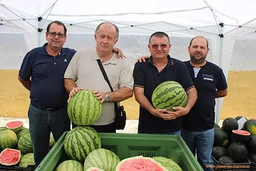 Agricultores: Juan Callejón y Antonio Cabeo (El Ejido), Pedro Cabeo (La Cañada) y José Luis Fernández (Vícar).