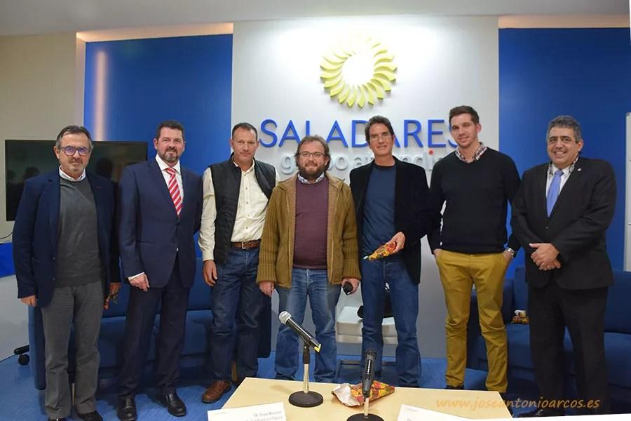 José Antonio Arcos, Pablo Campra, Gabriel Camhi, Jesús Rincón y Francisco Maldonado en las jornadas sobre agricultura del centro Saladares.