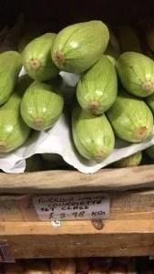 Calabacín de Turquía en supermercados de Inglaterra