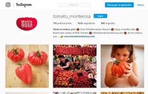 Tomate Monterosa en Instagram.