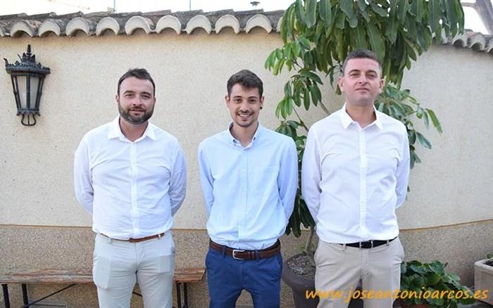 Los técnicos de MAGAR: Miguel Cazorla, Pablo Fernández y Eloy Ibáñez.
